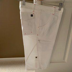 Orb cotton/nylon capri Shorts White Size 31